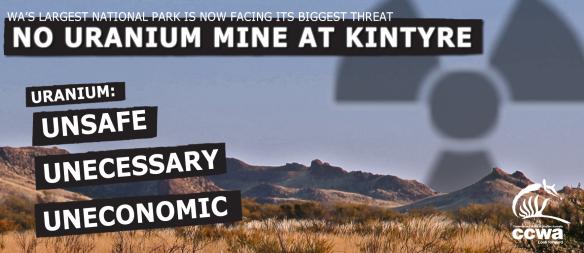 Kintyre uranium proposal is under assessment. Cameco Australia.