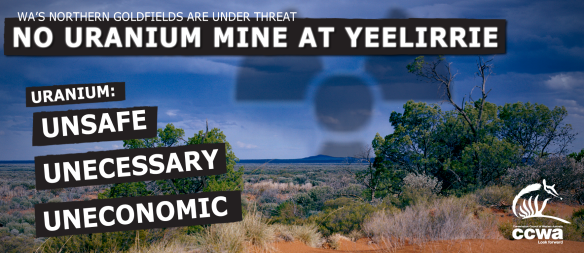 Yeelirrie uranium proposal has been referred to the EPA, is yet to start the scoping phase. Cameco Australia.